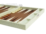 picture of Hector Saxe Faux Croco Travel Backgammon Set - Ivory (6 of 12)