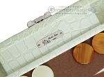 picture of Hector Saxe Faux Croco Travel Backgammon Set - Ivory (7 of 12)