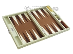 picture of Hector Saxe Faux Croco Travel Backgammon Set - Ivory (10 of 12)