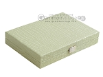 picture of Hector Saxe Faux Croco Travel Backgammon Set - Ivory (12 of 12)