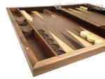 19-inch Wood Backgammon Set - Starburst Inlay