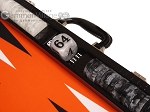 picture of Wycliffe Brothers® Tournament Backgammon Set - Black Croco with Orange Field - Gen II (7 of 12)