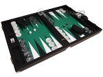 picture of Wycliffe Brothers® Tournament Backgammon Set - Black with Green Field - Gen II (2 of 12)