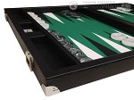 picture of Wycliffe Brothers® Tournament Backgammon Set - Black with Green Field - Gen II (5 of 12)