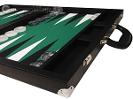 picture of Wycliffe Brothers® Tournament Backgammon Set - Black with Green Field - Gen II (6 of 12)