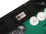 picture of Wycliffe Brothers® Tournament Backgammon Set - Black with Green Field - Gen II (9 of 12)