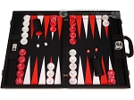 Wycliffe Brothers® Tournament Backgammon Set - Black with Black Field - Gen II - Item: 3989