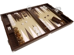 picture of Wycliffe Brothers® Tournament Backgammon Set - Brown Croco with Beige Field - Gen II (2 of 12)
