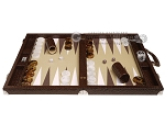 picture of Wycliffe Brothers® Tournament Backgammon Set - Brown Croco with Beige Field - Gen II (4 of 12)