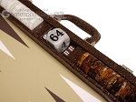 picture of Wycliffe Brothers® Tournament Backgammon Set - Brown Croco with Beige Field - Gen II (7 of 12)