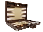 picture of Wycliffe Brothers® Tournament Backgammon Set - Brown Croco with Beige Field - Gen II (10 of 12)