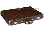 picture of Wycliffe Brothers® Tournament Backgammon Set - Brown Croco with Beige Field - Gen II (11 of 12)
