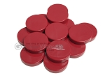 Backgammon Checkers - Opaque - Bordeaux - (1 3/4 in. Dia.) - Roll of 15 - Item: 3842