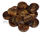 Backgammon Checkers - Marbleized - Brown - (1 3/4 in. Dia.) - Roll of 15 - Item: 3815