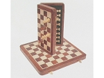 12in. Wood Magnetic Folding Travel Chess Set - Item: 130