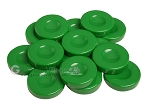 Backgammon Checkers - Opaque - Green - with Finger Dish - (1 3/4 in. Dia.) - Roll of 15 - Item: 3848