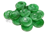 Backgammon Checkers - Marbleized - Green - with Finger Dish - (1 3/4 in. Dia.) - Roll of 15 - Item: 3824
