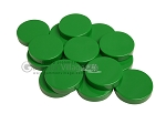 Backgammon Checkers - Opaque - Green - (1 3/4 in. Dia.) - Roll of 15 - Item: 3836