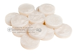 Backgammon Checkers - Mother Of Pearl - Plastic - White - Roll of 15