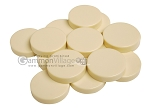 Backgammon Checkers - Opaque - Ivory - (1 3/4 in. Dia.) - Roll of 15 - Item: 3837