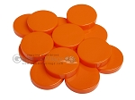 Backgammon Checkers - Opaque - Orange - (1 3/4 in. Dia.) - Roll of 15 - Item: 3838