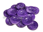 Backgammon Checkers - Marbleized - Purple - with Finger Dish - (1 3/4 in. Dia.) - Roll of 15 - Item: 3829
