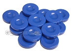 Backgammon Checkers - Opaque - Royal Blue - with Finger Dish - (1 3/4 in. Dia.) - Roll of 15