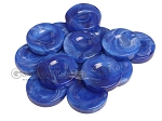 Backgammon Checkers - Marbleized - Royal Blue - with Finger Dish - (1 3/4 in. Dia.) - Roll of 15 - Item: 3821
