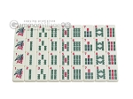 Mah Jong Tiles - Ivory - 166 Tiles + 2 Black Trays - Item: 2638