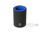 Professional Leather Backgammon Dice Cup - Round - Blue Felt - Item: 2575