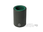 Professional Leather Backgammon Dice Cup - Round - Green Felt - Item: 2573