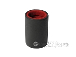 Professional Leather Backgammon Dice Cup - Round - Red Felt