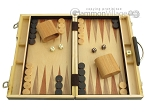 picture of 15-inch Wood Backgammon Set - Zebra Wood (1 of 11)