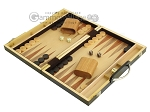picture of 15-inch Wood Backgammon Set - Zebra Wood (3 of 11)