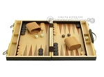 picture of 15-inch Wood Backgammon Set - Zebra Wood (4 of 11)