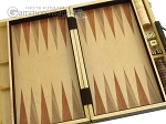 picture of 15-inch Wood Backgammon Set - Zebra Wood (8 of 11)