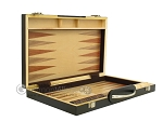 picture of 15-inch Wood Backgammon Set - Zebra Wood (9 of 11)