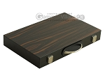 15-inch Wood Backgammon Set - Zebra Wood - Item: 2580