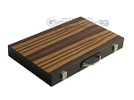 18-inch Wood Backgammon Set - Zebra Wood