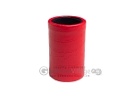 Red Leatherette Backgammon Dice Cup - Black Interior with Trip Lip