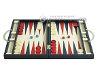 Zaza & Sacci® Leather Backgammon Set - Model ZS-200 - Travel - Blue