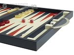 picture of Zaza & Sacci Leather Backgammon Set - Model ZS-200 - Travel - Blue (6 of 12)