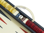 picture of Zaza & Sacci® Leather Backgammon Set - Model ZS-200 - Travel - Blue (9 of 12)
