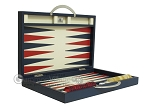 picture of Zaza & Sacci® Leather Backgammon Set - Model ZS-200 - Travel - Blue (10 of 12)
