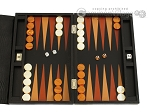 picture of Zaza & Sacci® Leather Backgammon Set - Model ZS-242 - Travel - Black Lizard (1 of 12)
