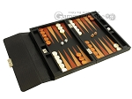 picture of Zaza & Sacci® Leather Backgammon Set - Model ZS-242 - Travel - Black Lizard (2 of 12)