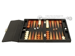picture of Zaza & Sacci® Leather Backgammon Set - Model ZS-242 - Travel - Black Lizard (4 of 12)
