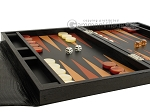 picture of Zaza & Sacci Leather Backgammon Set - Model ZS-242 - Travel - Black Lizard (5 of 12)