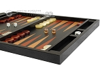 picture of Zaza & Sacci Leather Backgammon Set - Model ZS-242 - Travel - Black Lizard (6 of 12)