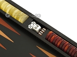 picture of Zaza & Sacci Leather Backgammon Set - Model ZS-242 - Travel - Black Lizard (9 of 12)